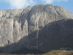 Rock Climbing Photo: Chambe East face.  Several climbs are located here