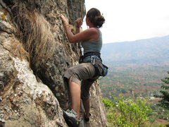 Rock Climbing Photo: Mary Kuhlke on End of Days, Zomba environs....