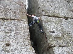 Rock Climbing Photo: Matt poised to move over to the start of the Diago...