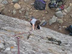 Rock Climbing Photo: Jamming the bottom half of Boston Rag