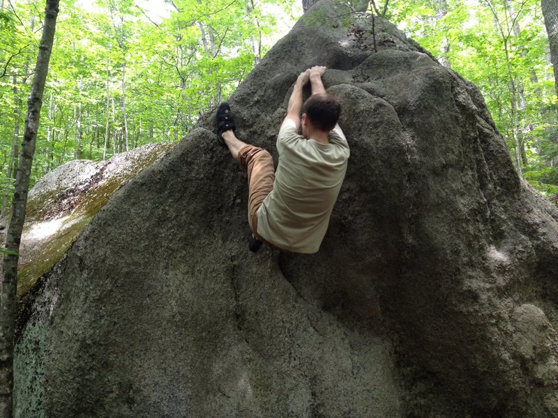 Rock Climbing Photo: Under shelf