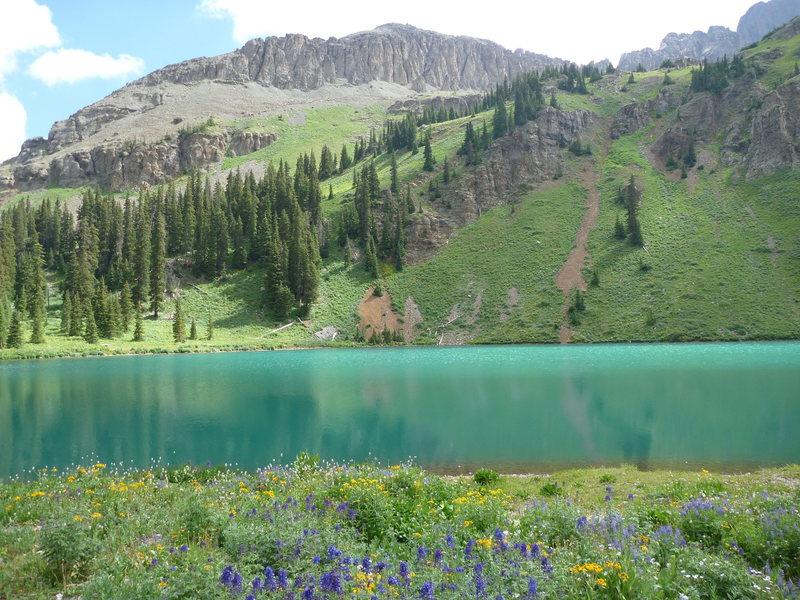 Rock Climbing Photo: Blue Lake