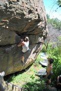 Rock Climbing Photo: Hanna Marie on the V1 Traverse
