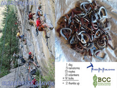 Rock Climbing Photo: Anarchy Wall rebolt day