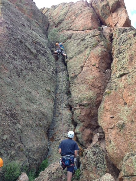 "Rock Climbing Photo: Offwidth crack to the ""Fear of Flying"" a..."