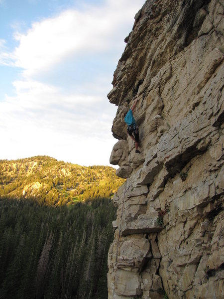 Rock Climbing Photo: Gabby crushing The Virus onsight