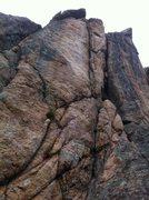 Rock Climbing Photo: left) Trojan Whores 5.10b; right) Sloppy Seconds 5...
