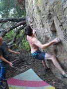 Rock Climbing Photo: Arthur starting Vietcong Manowar