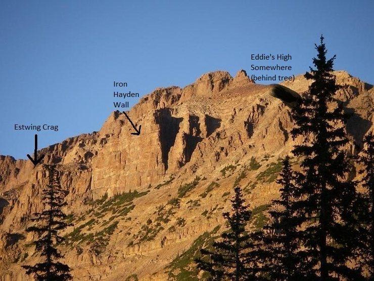 Location of Eddie's High Somewhere.