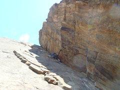 Rock Climbing Photo: Earl gittin' 'er done.