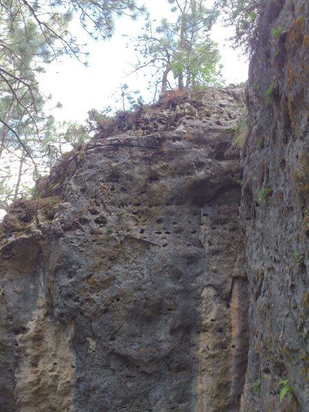 Rock Climbing Photo: Danny Trejo (proj) center, Time to Shine to the ri...
