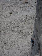 Rock Climbing Photo: Caroline on the P3 splitter of Eye of the Storm
