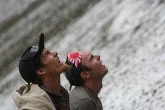 Rock Climbing Photo: AB & Dimebag watchin' the show