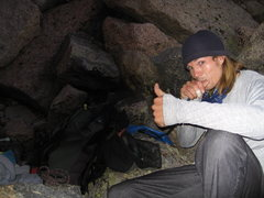 Rock Climbing Photo: Sluggin' water before sunrise on an alpine day.