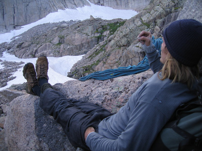 Rock Climbing Photo: Sharing a cig, reflecting, satisfied