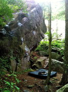 Rock Climbing Photo: Has a very nice landing. Easily doable with only 1...