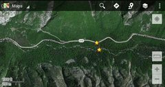 Rock Climbing Photo: Trailhead and bridge shown by the two stars here. ...