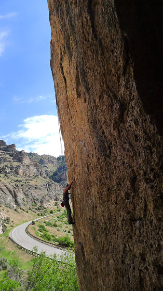 Rock Climbing Photo: Me on the easier lower half of Always Keep It Load...