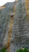Rock Climbing Photo: Climber on Sky Pilot.