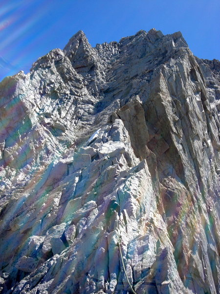 Pitch 5 on the West Ridge of Mt. Connes (IV, 5.6, 12 pitches), June, 2013