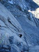 Rock Climbing Photo: Daniel on the West Ridge of Mt. Connes, Yosemite