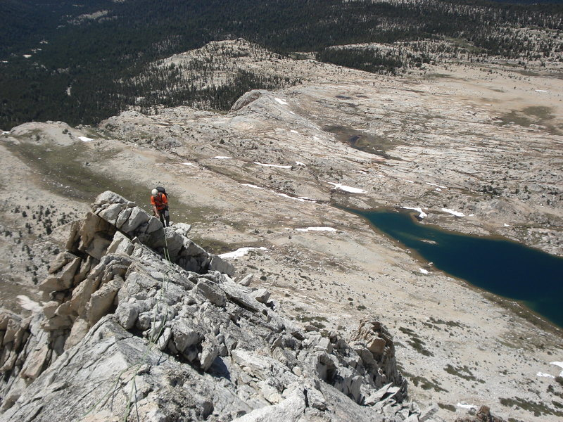 On Mt. Connes, Tuolumne Meadows, Yosemite.  June 2013