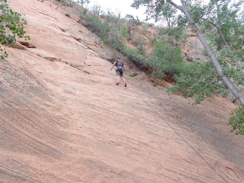 "Rock Climbing Photo: Boom, got it. Onsight ""Sprint Point"" to ..."