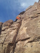 """Rock Climbing Photo: Leading on the """"Kiddie Wall"""" as describe..."""
