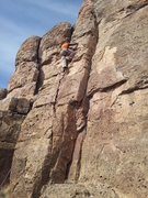 Rock Climbing Photo: Big Papa Curt on his first visit to Shelf Road, Ca...