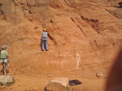 Rock Climbing Photo: Belaying Grandpa Stan, who was motivated to get hi...
