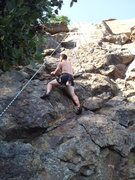 Rock Climbing Photo: Working my way up some fun choss at Emigrant Lake,...
