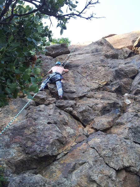 Rock Climbing Photo: Ryan rocking the Zubas at Emigrant Lake, Ashland, ...