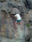 Rock Climbing Photo: Big Papa Curt with an incredible Undercling, in Te...