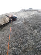 Rock Climbing Photo: The run out start of Pear Buttress in Lumpy