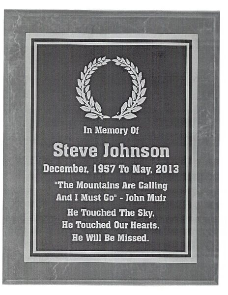 Rock Climbing Photo: Memorial Plaque