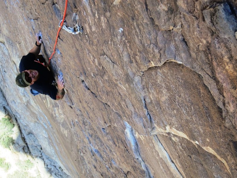 Rock Climbing Photo: Prince of Darkness, Red Rocks, NV.