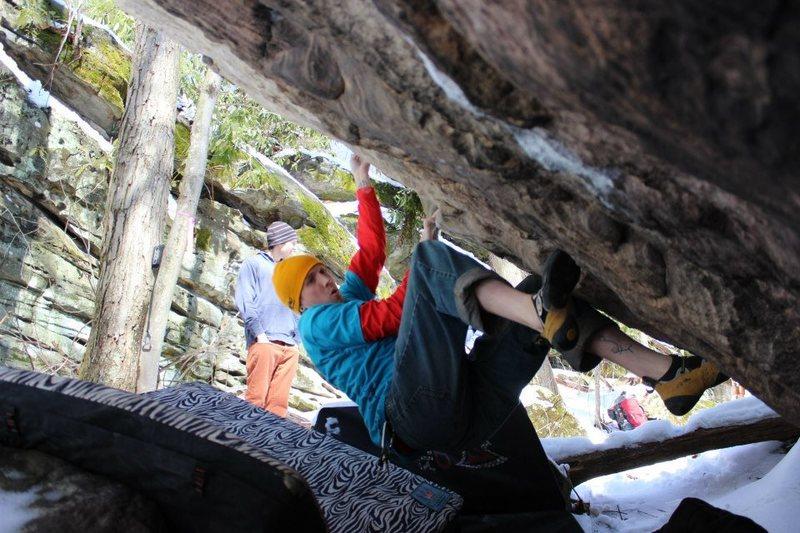 Rock Climbing Photo: try hard face