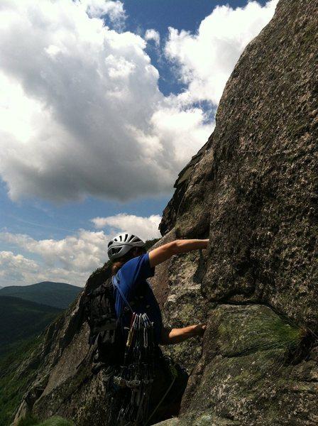 Rock Climbing Photo: Erik the Red leading pitch 5. Shimberg photo