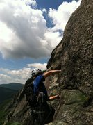 Rock Climbing Photo: Erik the Red leading pitch 5. Shimberg photo