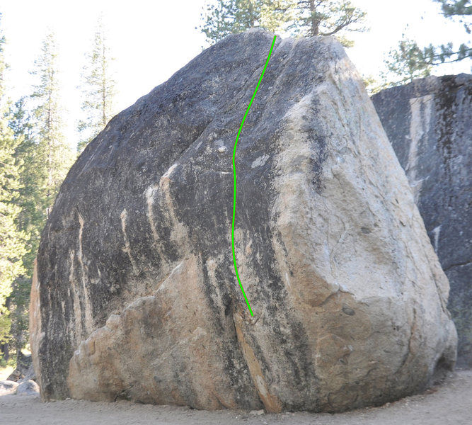Rock Climbing Photo: Moffatt Problem in green