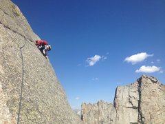 Rock Climbing Photo: The hand traverse