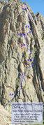 Rock Climbing Photo: Topo for Voie Parat-Seigneur on the Aiguille de Pr...