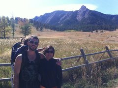 Rock Climbing Photo: Hiking at Chatauqua with my friends Mala and Bella