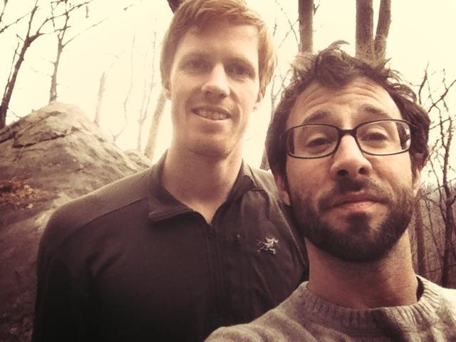 Me and Philip at Rumbling Bald - We did Frosted Flake and awesome 5.9 Layback among others.
