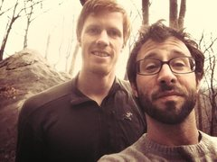 Rock Climbing Photo: Me and Philip at Rumbling Bald - We did Frosted Fl...