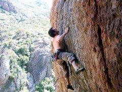 Rock Climbing Photo: Echo Cliffs near Malibu. I believe the climb was c...