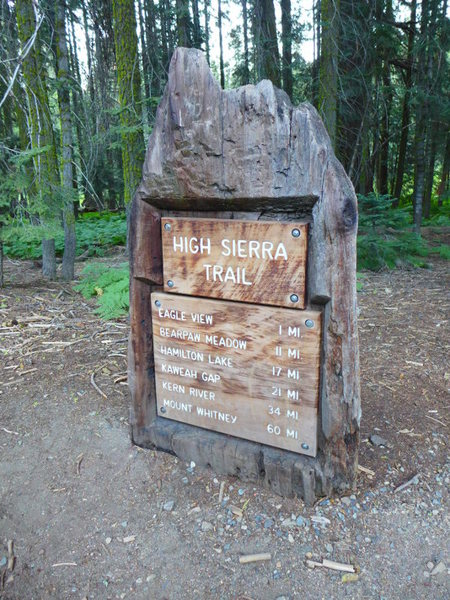 start (the first 11 miles are on the High Sierra trail)
