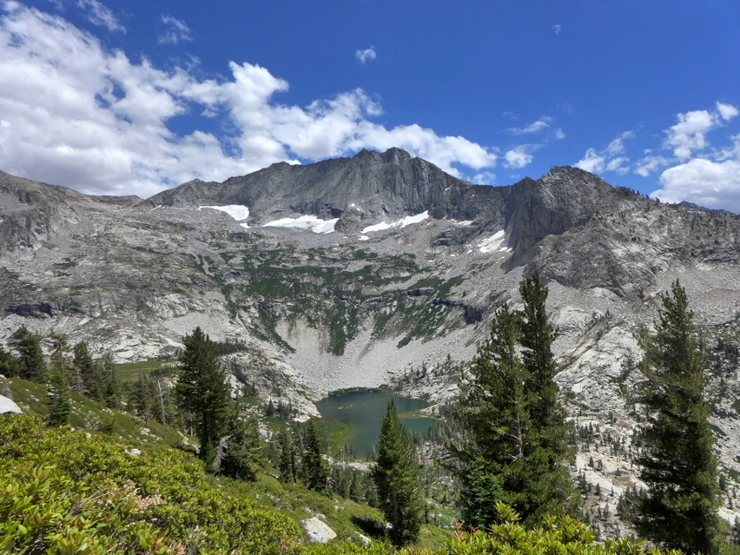 Rock Climbing Photo: Mt Stewart and Tamarack Lake from the approach to ...
