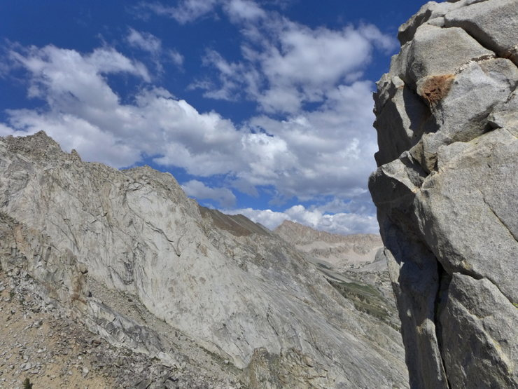Rock Climbing Photo: view east past one of the gendarmes