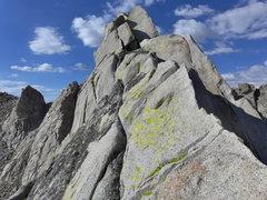 Rock Climbing Photo: final push